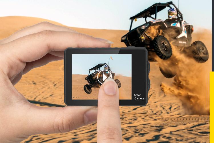 Camera sport cu touch screen
