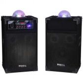 SET BOXA ACTIVA PA 10 inch/25CM + ASTRO 3X1W RGB