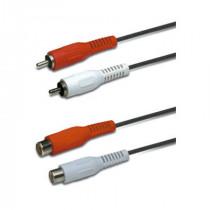 Cablu 2xrca tata - 2x rca mama 2.5m header ed