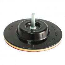 Suport disc abraziv auto-adeziv gumat cu tija / 125mm
