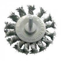 Perie sarma impletita tip circular cu tija 75mm