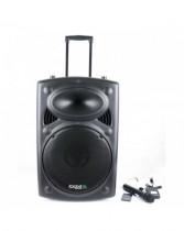 Boxa portabila activa 800w bt, sd, usb, fm, karaoke, 2 microfoane uhf