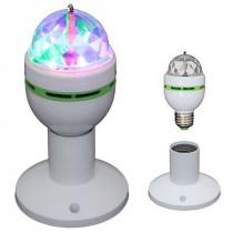 BEC E27 CU LED-URI RGB 1W X 3 CAP ROTATIV