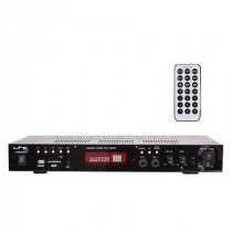 Amplificator karaoke 2x50w fm/bt/usb/sd 2 linii microfon