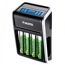 Incarcator baterie acumulator cu afisaj lcd + 4 acumulatori aa 2100mah varta