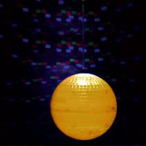Glob disco pvc iluminat 8 inch (20cm) 9 led-uri