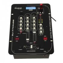 Mixer 5 canale cu bpm digital si usb/sd