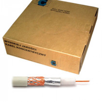 Cablu coaxial cu rg59u alb 200m