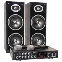 Set karaoke amplificator + boxe + microfone wireless