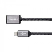 Cablu prelungitor usb-micro usb 0.2m kruger&m