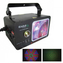 Laser color moon dmx rosu/verde 162 led 140mw