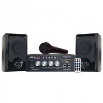 Set karaoke cu amplificator 2x50w + 2 boxe cu bluetooth/usb/sd