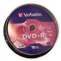 Dvd+r verbatim 4,7gb 16x cake-10buc