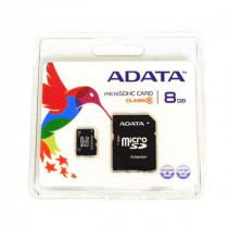 Micro sd card 8gb cu adaptor adata