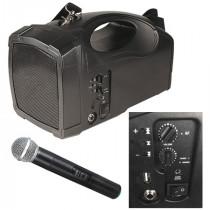 Boxa portabila 20w rms mp3/usb/bt microfon wireless bst