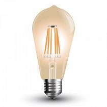 Bec e27 cu filament led 4w 2200k st64 model edison v-tac