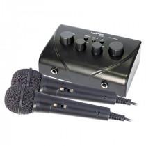 Mixer karaoke cu 2 microfoane