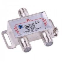 Splitter 2 cai power pass 5-2450 mhz