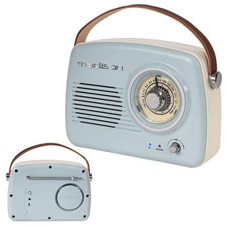 Radio fm portabil nostagia 15w cu functie bluetooth/aux