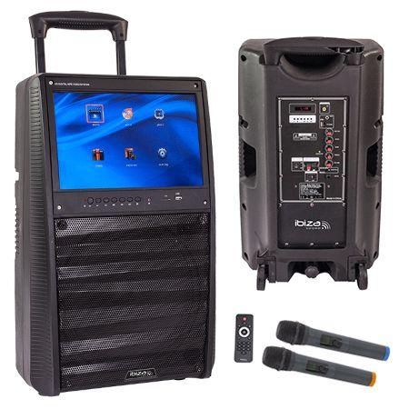 Boxa portabila 12 inch/30cm 400w tip karaoke cu ecran 15inch