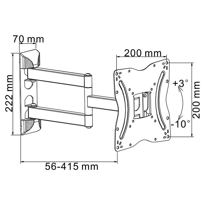 Suport tv 13-55 inch pivotare orizontala/vert